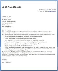 professional cover letters examples