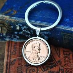 1959 60th Anniversary Keyring USA, Lucky Penny Keyring, 1959 1 cent Coin Keyring, 60th Birthday Gift, U.S. Coin Keyring, Key to the Door Copper Anniversary Gifts, 60th Anniversary, Advertising Pictures, Lucky Penny, 60th Birthday Gifts, Present Gift, Unique Gifts, Key, Personalized Items