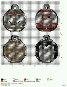 CHRISTMAS BUDDIES ORNAMENTS by ADEL DURANT