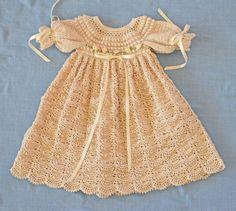 Crudo de bautizo / bendición vestido vestido por CherryHillCrochet