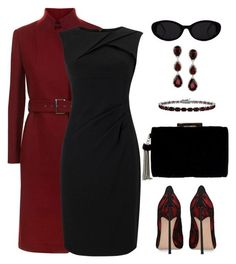 Untitled #1557 by gallant81 on Polyvore featuring Adrianna Papell, Casadei, Ross-Simons and Glitzy Rocks