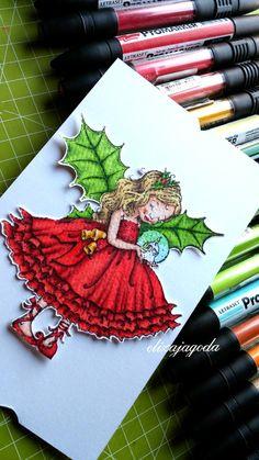 Kartka świąteczna z małą dziewczynką. Malaga, Drawing Things