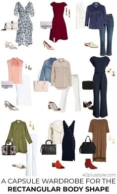 You will look your best if you pick clothes that are suitable for your body shape. In this article are guidelines on how to dress the rectangle body shape. Fashion Outfits, Fashion Tips, Fashion Trends, Fashion Bloggers, Fashion Capsule, Dressy Outfits, Work Outfits, Fashion Clothes, Womens Fashion