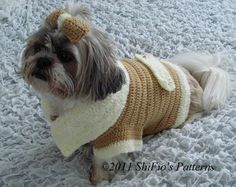 Dog Coat Crochet Pattern by ShiFio's Patterns Crochet Dog Clothes, Crochet Dog Sweater, Pet Clothes, Dog Crochet, Dog Clothing, Chat Crochet, Pet Coats, Animal Sweater, Dog Jumpers