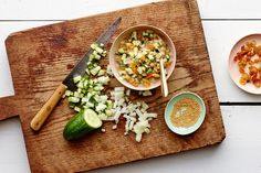 Cucumber and Raisin Relish with Mustard Seeds- Recipe image / Photo by Andrew Purcell, Prop Styling by Alex Brannian, Food Styling by Carrie Purcell