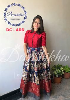 DC Beautiful floor length anarkali dress with pom pom hangings. For queries kindly WhatsApp : 9059683293 Simple Gown Design, Long Gown Design, Long Gown Dress, Frock Dress, Long Frock, Dress Skirt, Kalamkari Dresses, Ikkat Dresses, Kurti Designs Party Wear