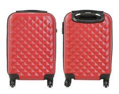 0c79936f7 a maleta pequena de 4 ruedas rombo rojo equipaje de cabina o mano trolley  nuevo