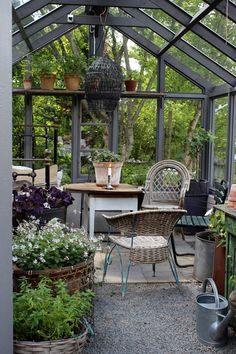 Greenhouse Farming is the process of cultivating crops and vegetable. If you have a greenhouse or are considering setting up one, then we'll share what greenhouse plants grows best inside. Outdoor Rooms, Outdoor Gardens, Outdoor Living, Small Gardens, Backyard Greenhouse, Backyard Landscaping, Greenhouse Ideas, Cheap Greenhouse, Portable Greenhouse