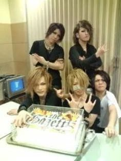 Aoi. Ruki. Uruha. Reita. Kai. the GazettE. Ruki's lip pout. >ω<