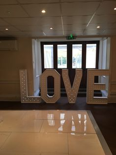 4ft led love letters