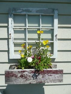 One way to dress up a blank 'wall' on the side of a house or garage
