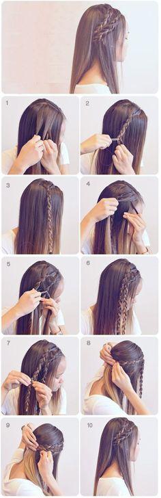 Peinados con trenzas ✿ ❁ para todos los estilos de cabello ❁ ✿ y con muchas variantes distintas, no dejes de ver esta genial galería con sus tutoriales. #peinadosfaciles