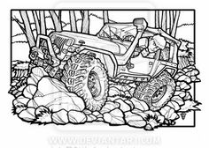 4x4 off road coloring pages   #Fun Jeep Wrangler Unlimited off-roading - great one for ...