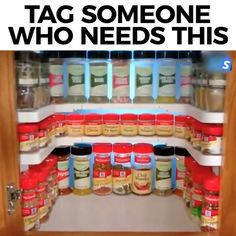 Adjustable Space Rack is an adjustable organizer that fits perfectly in your cupboards! Organize your cabinets to fully capitalize on your cabinet's vertical space. Medicine Cabinet Organization, Spice Organization, Diy Kitchen Storage, Diy Storage, Storage Ideas, Organize Kitchen Cupboards, Kitchen Decor, Kitchen Cabinets, Organizing Hacks