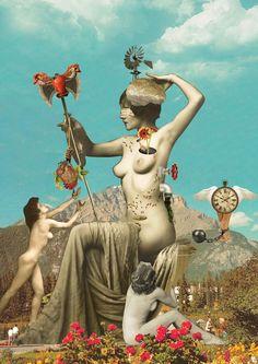 Deusa Pagã da Razão. Senhora de tudo dentro de mim. #collage Art Pop, Photomontage, Wicca, Collages, Mandala, Sacred Feminine, Mail Art, Surreal Art, Medium Art