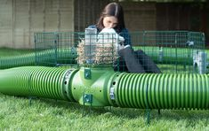 The Zippi rabbit tunnels can be customized with a hay rack, tunnel supports and multiple playpens Large Rabbit Run, Large Rabbits, Bunny Cages, Rabbit Cages, Rabbit Tunnel, Indoor Rabbit Cage, Rabbit Habitat, Rabbit Enclosure, Rat Cage