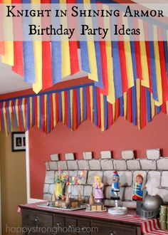 Exciting knight in shining armor birthday party ideas and tips, including birthday cake, party decor, gift ideas and more!