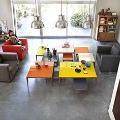 Table basse verre coloré RÉTRO en 4 coloris
