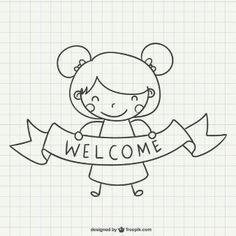 Welcoming girl