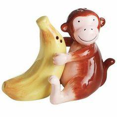 Monkey & Banana Salt & Pepper Shakers