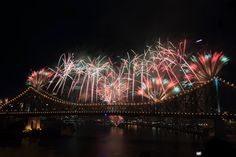 Brisbane's Riverfire with Story Bridge. The symbol of Brisbane. Brisbane Nightlife, Night Skies, Night Life, New Zealand, Beautiful Places, Bridge, Fair Grounds, Fire, Australia
