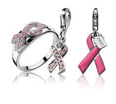 Zinzi doneert in samenwerking met alle Zinzi dealers 10 % per sieraad aan Pink Ribbon.     De zilveren Charm met roze zirconia's kost € 22,95.  De roze Charm kost € 16,95.  De zilveren ring met lintje bezet met roze zirconia's kost € 35.    Meer informatie? Ga naar www.sylvesterandriessen.nl