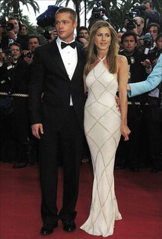 Brad Pitt and Jennifer Aniston. In my opinion, the two hottest people to ever walk this earth.