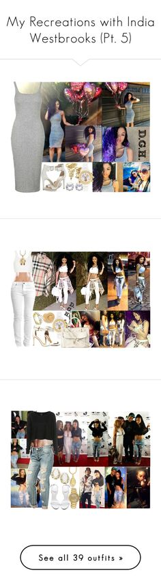 """""""My Recreations with India Westbrooks (Pt. 5)"""" by dopegenhope ❤ liked on Polyvore featuring Topshop, Calvin Klein, throwback, westbrooks, india, indialove, indialovewestbrooks, Burberry, Cheap Monday and Versace"""