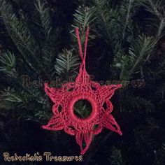 Radiant Star Ornament | FREE Christmas crochet pattern by @beckastreasures