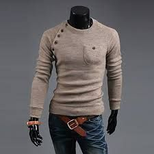mens pullover winter sweaters button full knitwear jersey hombre ropa christmas sweaters for men sueter masculino pull homme(China (Mainland)) Mens Fashion Sweaters, New Mens Fashion, Sweater Fashion, Korean Fashion, Men Sweater, Knit Sweaters, Men's Fashion, Pullover Sweaters, Color Fashion