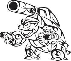 blastoise tribal design