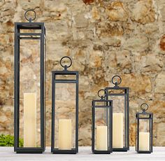 Santorini Square Lanterns - Weathered Zinc