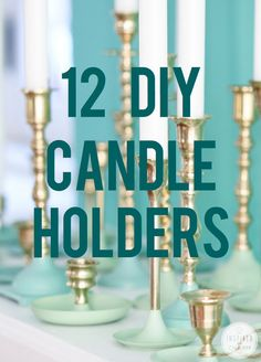 12+DIY+Candle+Holders
