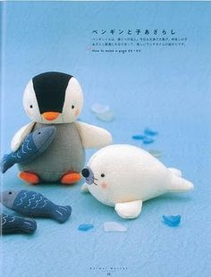 Adorable. Penguin, Fish & Seal -- Very cute #GlacialBuddies
