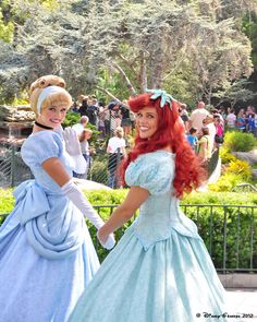 Cinderella and Ariel... if only I could work as a princess at Disneyland ♥