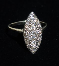 Antique Diamond Cluster Ring Pave Diamond Ring by BelmarJewelers, $575.00