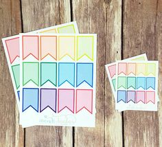 12 Colorful Flag Stickers – Perfect for Erin Condren, Plum Paper Planner, Inkwell Press, Filofax, Scrapbooking & More