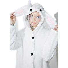Cute Rabbit Hoodie (50 AUD) ❤ liked on Polyvore featuring tops, hoodies, oversized tops, hooded pullover, oversized hoodie, white bow top and bunny top