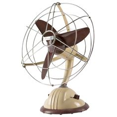"""Rare """"I304"""" Table Fan by Marelli 