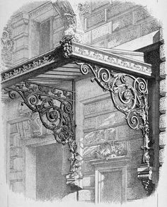 Design for a marquise at the Opéra Comique, Paris