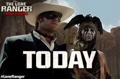 The Lone Ranger is now in theaters! Click to get tickets. http://di.sn/jGJ    #LoneRanger #movie #johnnydepp #armiehammer