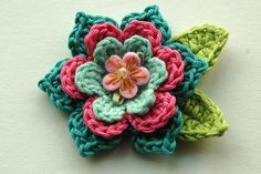 Crochet Flower, Cute can be added to any adorable headband.