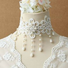 Wedding-Classic-Women-White-Lace-beading-Pearl-Choker-Necklace-jewelry-Accessories-Collar-Crochet-Party-Necklaces-Wholesale.jpg (650×650)