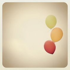 iphone 5 instagram balloons warm autumn fall tones 5x5 fine art photograph by Kristybee via Etsy #fpoe