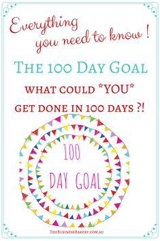 What could you get done in 100 days if you *really* put your mind to it?! Fancy giving the 100 Day Goal a try? Brilliant for solo, home-based, handmade and boutique business owners who want to get a project done, or give their business some oomph! The How-To is in the link and if you want to do it with us, we start 1 May 2017