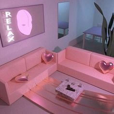 Pink, room, and aesthetic image. Neon Room, Pink Room, Neon Aesthetic, Aesthetic Rooms, Le Palace, Tout Rose, Girl Cave, Everything Pink, Dream Rooms