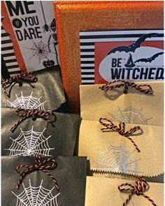 Halloween Favors #metallic #web #handmade #handcrafted #tableart #halloween #treats #design #designer #graphicdesign #graphics #yourexperiencematters #jodesigns__