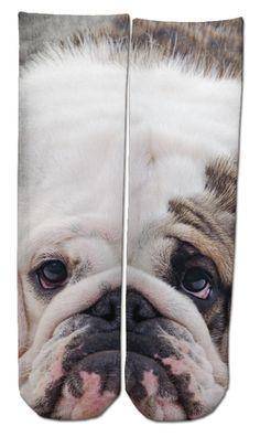 Bored Bulldog Ankle Socks