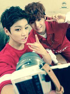Jungkook & Suga of BTS Selca