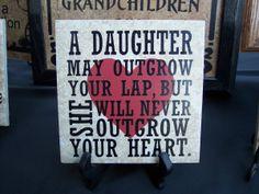 Daughter saying